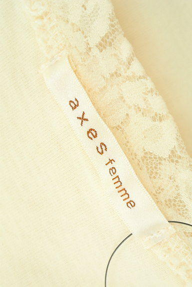 axes femme(アクシーズファム)の古着「蝶々プリントレースカットソー(カットソー・プルオーバー)」大画像6へ