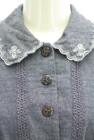 axes femme(アクシーズファム)の古着「刺繍デニム風フレアワンピース(ワンピース・チュニック)」大画像4へ