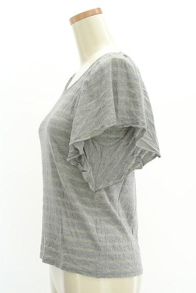 Te chichi(テチチ)の古着「ラメボーダーフレア袖カットソー(カットソー・プルオーバー)」大画像3へ