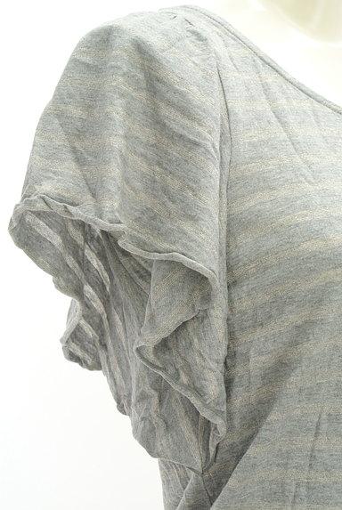 Te chichi(テチチ)の古着「ラメボーダーフレア袖カットソー(カットソー・プルオーバー)」大画像5へ