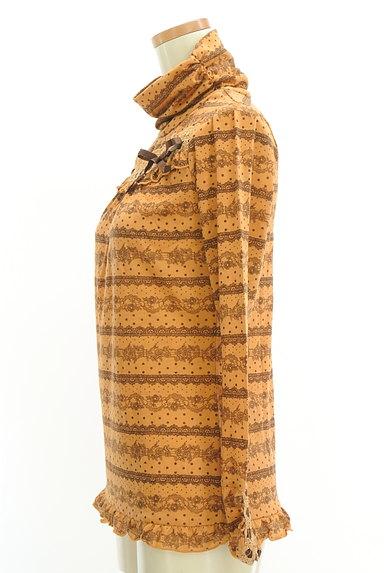 axes femme(アクシーズファム)の古着「花柄&レース柄タートルカットソー(カットソー・プルオーバー)」大画像3へ