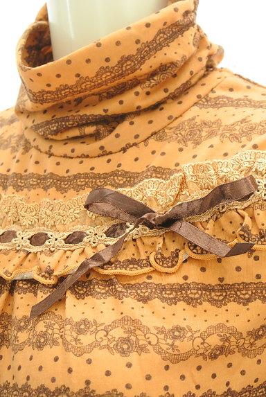 axes femme(アクシーズファム)の古着「花柄&レース柄タートルカットソー(カットソー・プルオーバー)」大画像4へ
