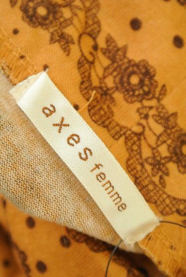 axes femme(アクシーズファム)の古着「花柄&レース柄タートルカットソー(カットソー・プルオーバー)」大画像6へ