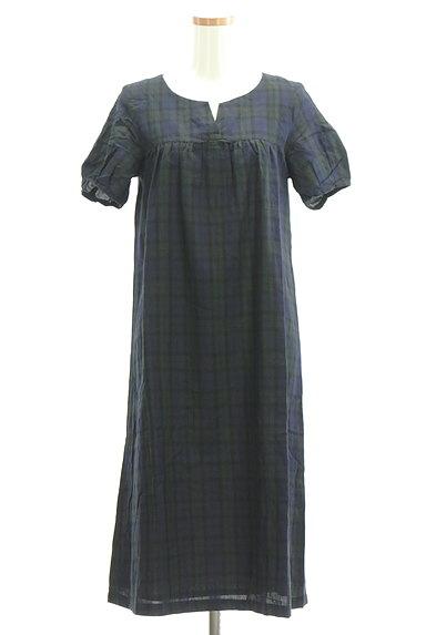 HUMAN WOMAN(ヒューマンウーマン)の古着「チェック柄ロングワンピース(ワンピース・チュニック)」大画像1へ