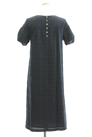 HUMAN WOMAN(ヒューマンウーマン)の古着「チェック柄ロングワンピース(ワンピース・チュニック)」大画像2へ