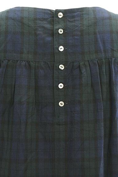 HUMAN WOMAN(ヒューマンウーマン)の古着「チェック柄ロングワンピース(ワンピース・チュニック)」大画像4へ