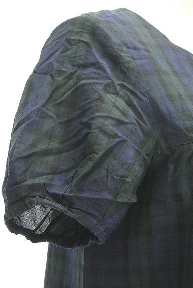 HUMAN WOMAN(ヒューマンウーマン)の古着「チェック柄ロングワンピース(ワンピース・チュニック)」大画像5へ
