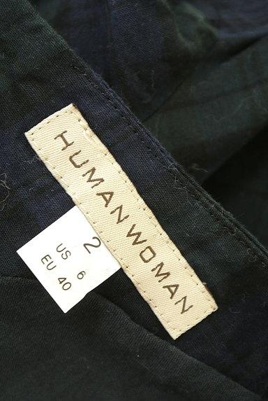 HUMAN WOMAN(ヒューマンウーマン)の古着「チェック柄ロングワンピース(ワンピース・チュニック)」大画像6へ