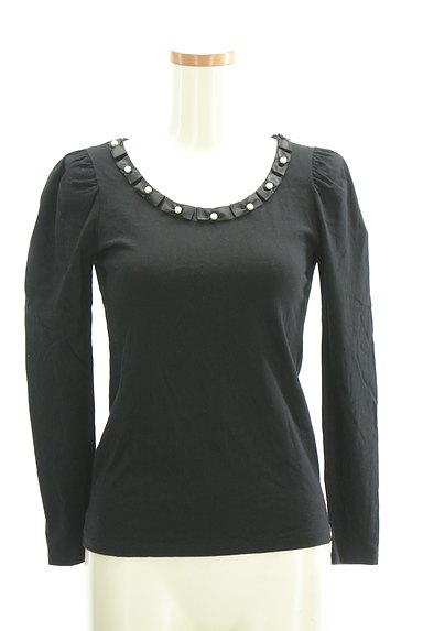 ef-de(エフデ)の古着「パールリボンネックカットソー(Tシャツ)」大画像1へ