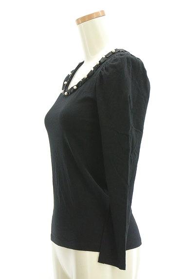 ef-de(エフデ)の古着「パールリボンネックカットソー(Tシャツ)」大画像3へ