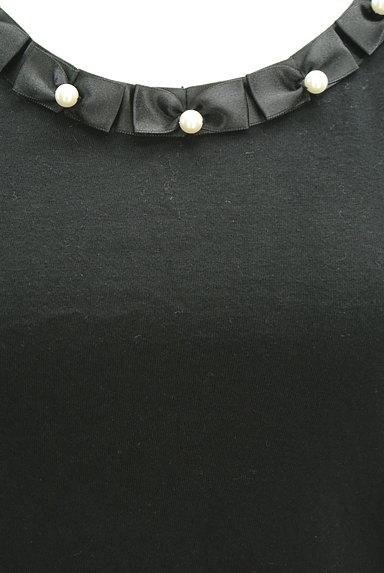 ef-de(エフデ)の古着「パールリボンネックカットソー(Tシャツ)」大画像4へ