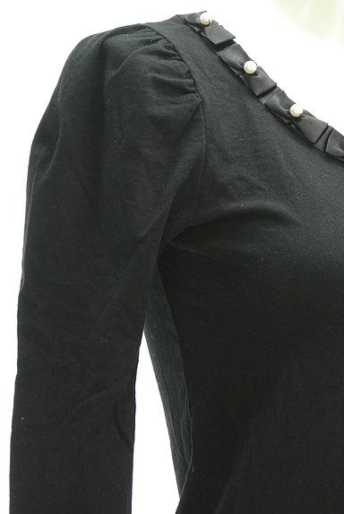 ef-de(エフデ)の古着「パールリボンネックカットソー(Tシャツ)」大画像5へ