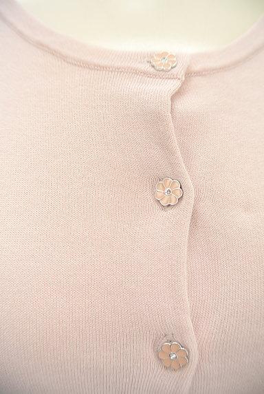 LAISSE PASSE(レッセパッセ)の古着「花モチーフボタンカーディガン(カーディガン・ボレロ)」大画像4へ
