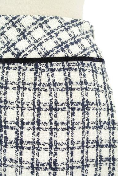 LAISSE PASSE(レッセパッセ)の古着「チェック柄ツイードミニスカート(ミニスカート)」大画像4へ