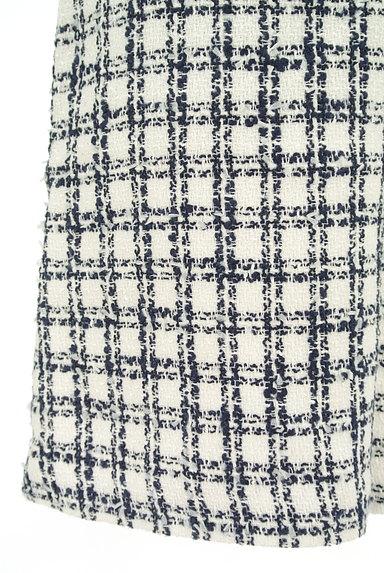 LAISSE PASSE(レッセパッセ)の古着「チェック柄ツイードミニスカート(ミニスカート)」大画像5へ