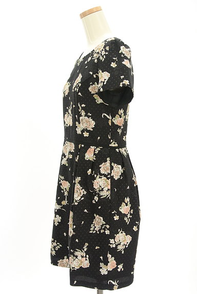 LAISSE PASSE(レッセパッセ)の古着「花×ドット柄ワンピース(ワンピース・チュニック)」大画像3へ
