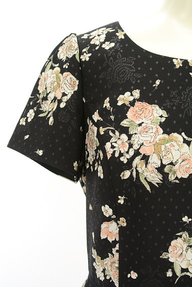 LAISSE PASSE(レッセパッセ)の古着「花×ドット柄ワンピース(ワンピース・チュニック)」大画像4へ