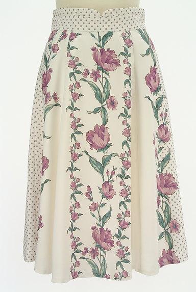 MISCH MASCH(ミッシュマッシュ)の古着「花柄×ドット柄膝下丈スカート(スカート)」大画像1へ