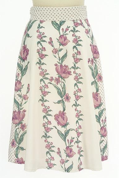 MISCH MASCH(ミッシュマッシュ)の古着「花柄×ドット柄膝下丈スカート(スカート)」大画像2へ