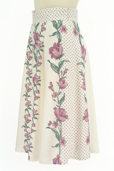 MISCH MASCH(ミッシュマッシュ)の古着「花柄×ドット柄膝下丈スカート(スカート)」大画像3へ