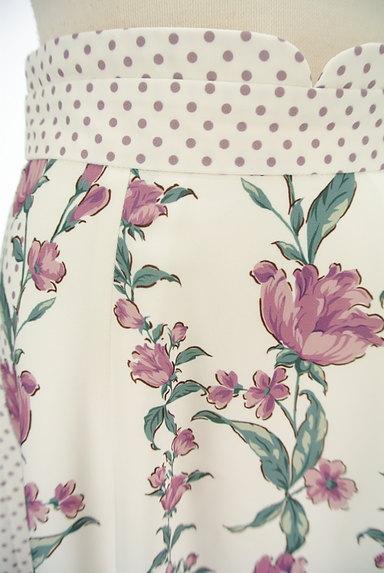 MISCH MASCH(ミッシュマッシュ)の古着「花柄×ドット柄膝下丈スカート(スカート)」大画像4へ