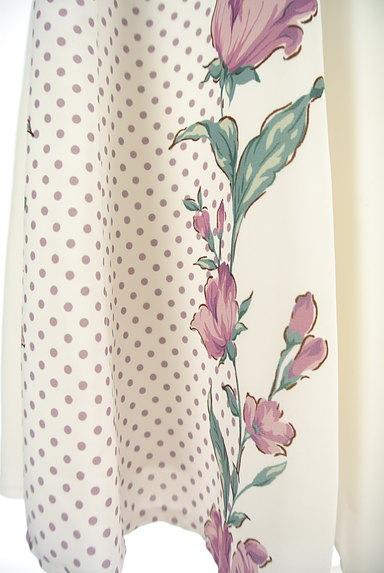 MISCH MASCH(ミッシュマッシュ)の古着「花柄×ドット柄膝下丈スカート(スカート)」大画像5へ