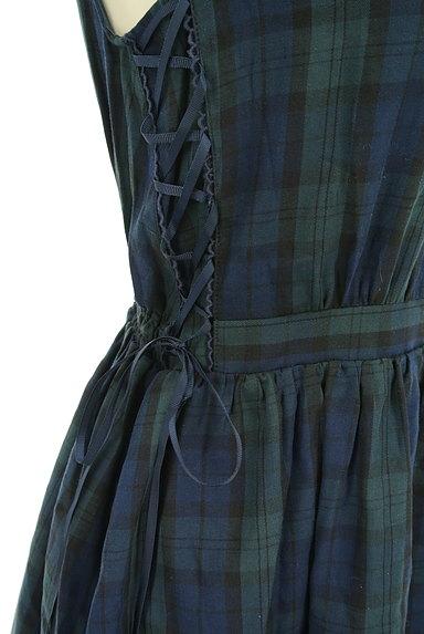 axes femme(アクシーズファム)の古着「膝下丈チェック柄フリルワンピース(ワンピース・チュニック)」大画像5へ