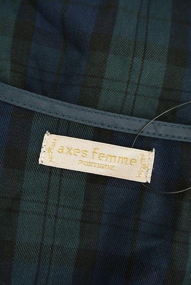 axes femme(アクシーズファム)の古着「膝下丈チェック柄フリルワンピース(ワンピース・チュニック)」大画像6へ