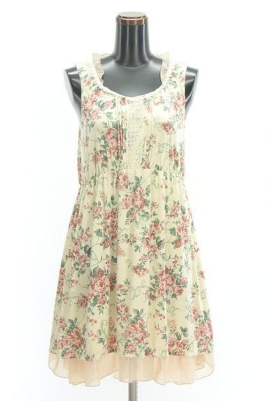 axes femme(アクシーズファム)の古着「シフォンフリル花柄ワンピース(キャミワンピース)」大画像1へ