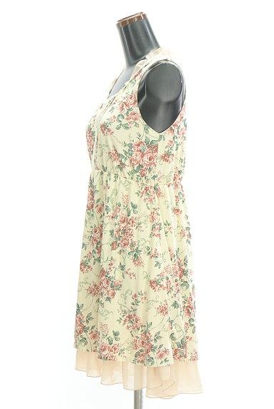 axes femme(アクシーズファム)の古着「シフォンフリル花柄ワンピース(キャミワンピース)」大画像3へ