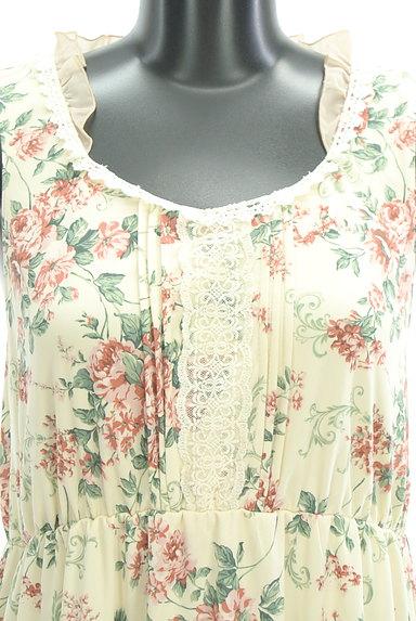 axes femme(アクシーズファム)の古着「シフォンフリル花柄ワンピース(キャミワンピース)」大画像4へ