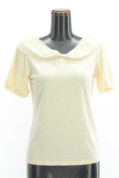 axes femme(アクシーズファム)の古着「シフォン&レース襟カットソー(カットソー・プルオーバー)」大画像1へ