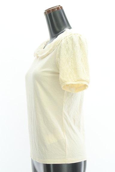 axes femme(アクシーズファム)の古着「シフォン&レース襟カットソー(カットソー・プルオーバー)」大画像3へ