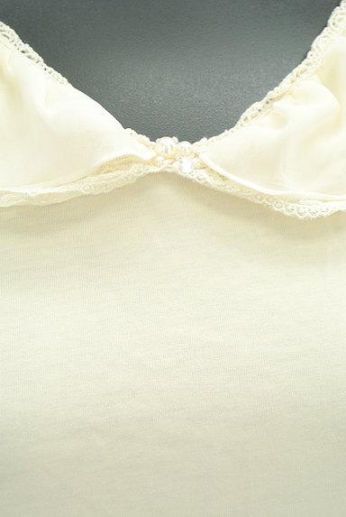 axes femme(アクシーズファム)の古着「シフォン&レース襟カットソー(カットソー・プルオーバー)」大画像4へ