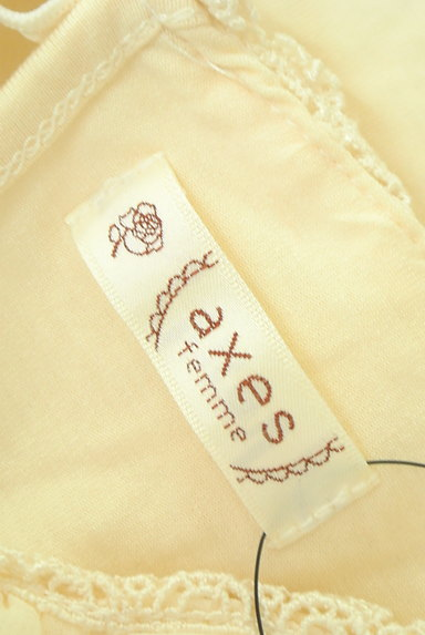 axes femme(アクシーズファム)の古着「シフォン&レース襟カットソー(カットソー・プルオーバー)」大画像6へ
