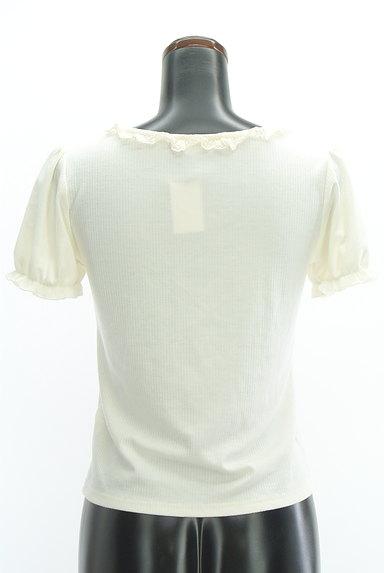 axes femme(アクシーズファム)の古着「フリルレースパフスリーブカットソー(カットソー・プルオーバー)」大画像2へ