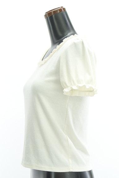axes femme(アクシーズファム)の古着「フリルレースパフスリーブカットソー(カットソー・プルオーバー)」大画像3へ