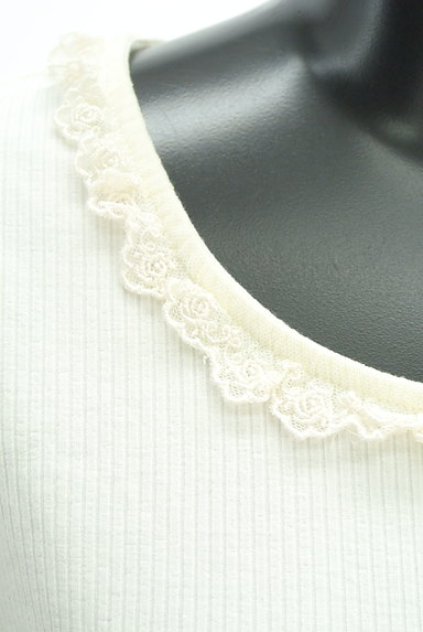 axes femme(アクシーズファム)の古着「フリルレースパフスリーブカットソー(カットソー・プルオーバー)」大画像4へ