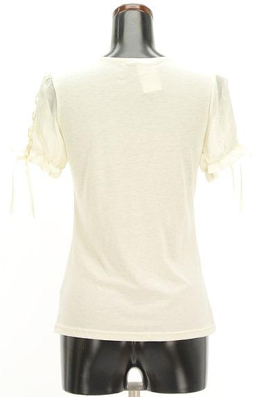 axes femme(アクシーズファム)の古着「レースアップシフォン袖カットソー(カットソー・プルオーバー)」大画像2へ