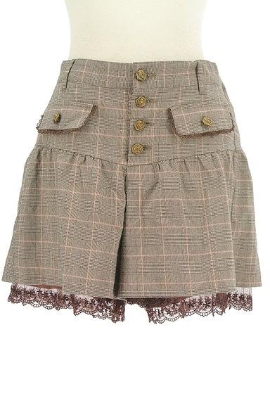 axes femme(アクシーズファム)の古着「裾レースチェック柄ショートパンツ(ショートパンツ・ハーフパンツ)」大画像1へ