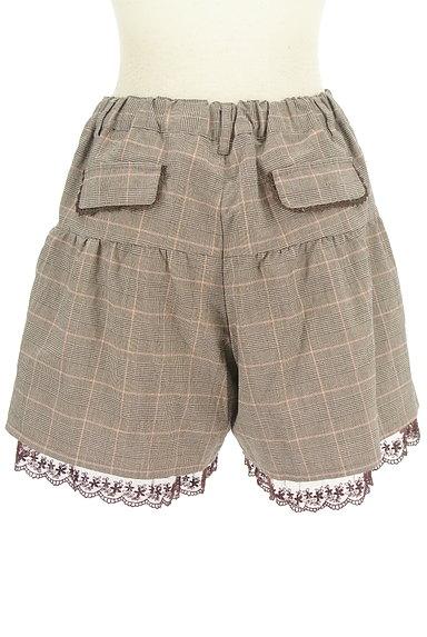 axes femme(アクシーズファム)の古着「裾レースチェック柄ショートパンツ(ショートパンツ・ハーフパンツ)」大画像2へ