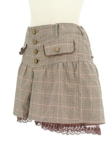 axes femme(アクシーズファム)の古着「裾レースチェック柄ショートパンツ(ショートパンツ・ハーフパンツ)」大画像3へ