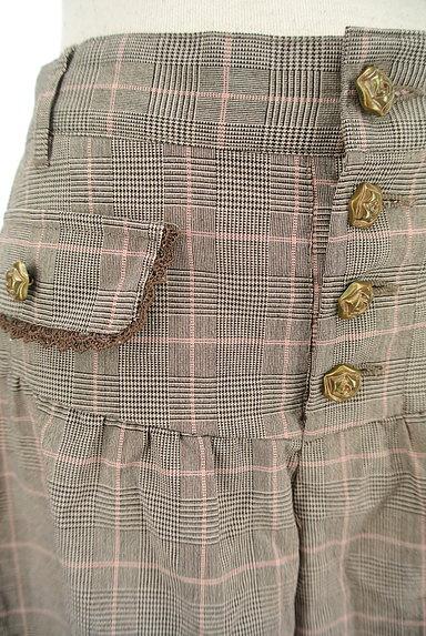 axes femme(アクシーズファム)の古着「裾レースチェック柄ショートパンツ(ショートパンツ・ハーフパンツ)」大画像4へ