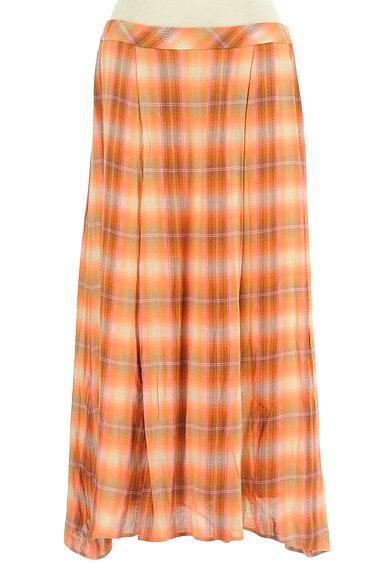 SCAPA(スキャパ)の古着「チェック柄ロングフレアスカート(ロングスカート・マキシスカート)」大画像1へ