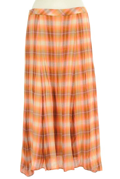 SCAPA(スキャパ)の古着「チェック柄ロングフレアスカート(ロングスカート・マキシスカート)」大画像2へ
