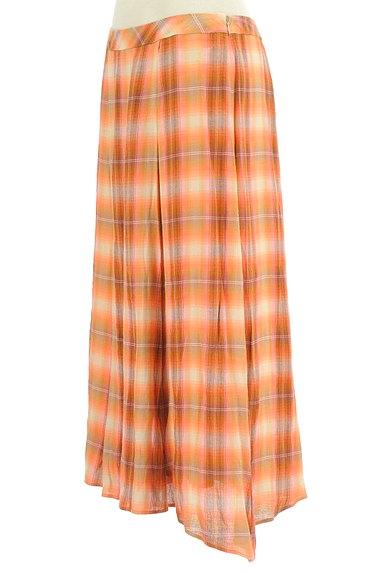 SCAPA(スキャパ)の古着「チェック柄ロングフレアスカート(ロングスカート・マキシスカート)」大画像3へ