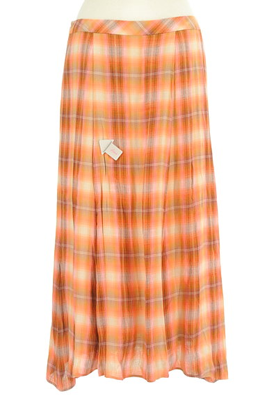 SCAPA(スキャパ)の古着「チェック柄ロングフレアスカート(ロングスカート・マキシスカート)」大画像4へ