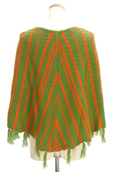 Jocomomola(ホコモモラ)の古着「裾フリンジニットポンチョ(ニット)」大画像2へ