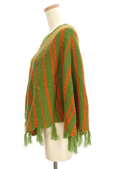 Jocomomola(ホコモモラ)の古着「裾フリンジニットポンチョ(ニット)」大画像3へ