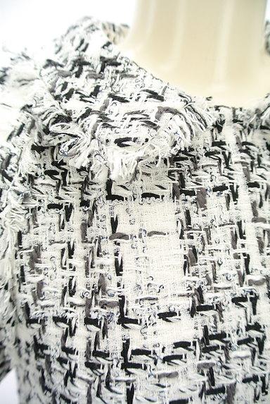 49av.Junko Shimada(49アヴェニュージュンコシマダ)の古着「フリンジツイードワンピース(ワンピース・チュニック)」大画像4へ